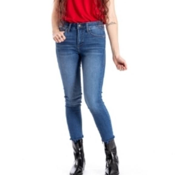 Lularoe Staple Dark Wash Skinny Jeans Sz 28